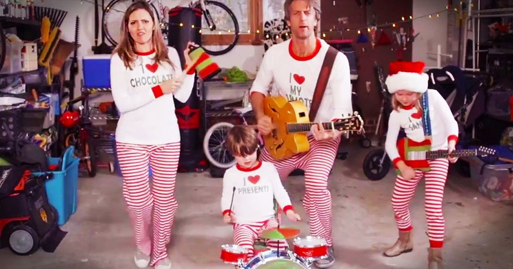 Family Sends Out Hilarious Video Christmas Card...In Their PJs!