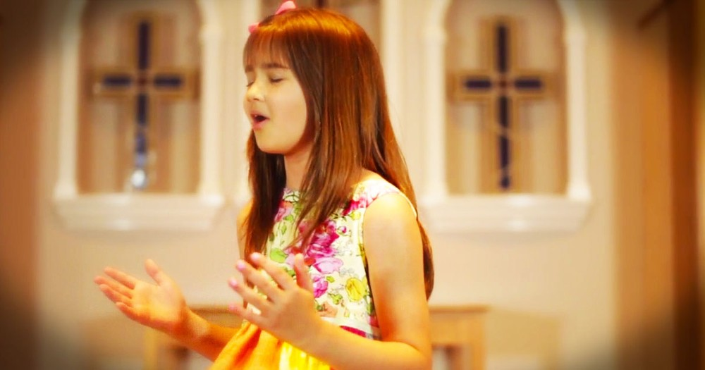 Talented 10-Year-Old Sings To Jesus With 'Find You On My Knees'
