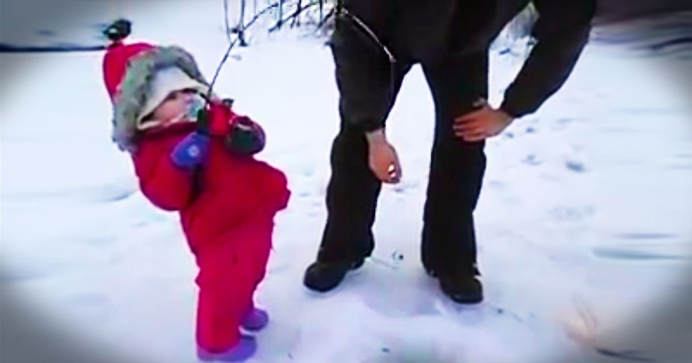 2-Year-Old Adorably Catches Her First Fish