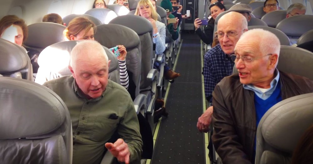 Barbershop Quartet Surprises Passengers During A Flight Delay