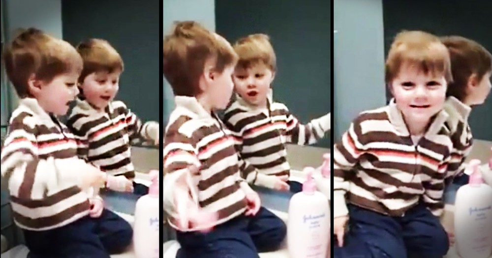 Little Boy Adorably Sings 'Jesus Loves Me' To Cutest Audience!