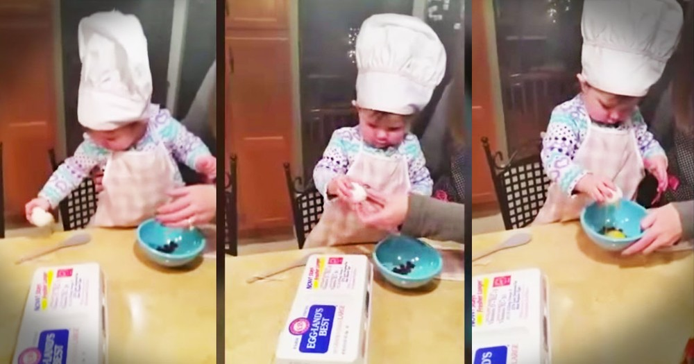 Apparently, This Baby Girl's Gonna Be A Chef--WOW!
