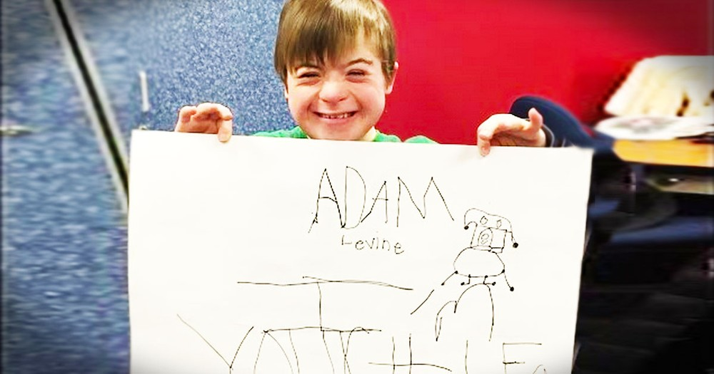 Little Boy With Down Syndrome Makes Adorable Video For Adam Levine
