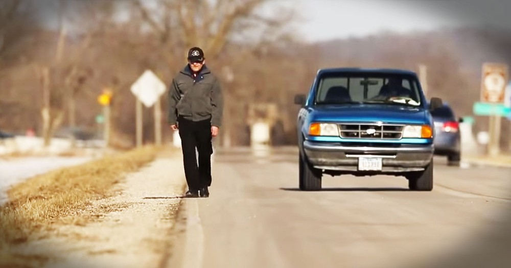 Inspiring Granddad Walks 35 Miles To Work As Janitor