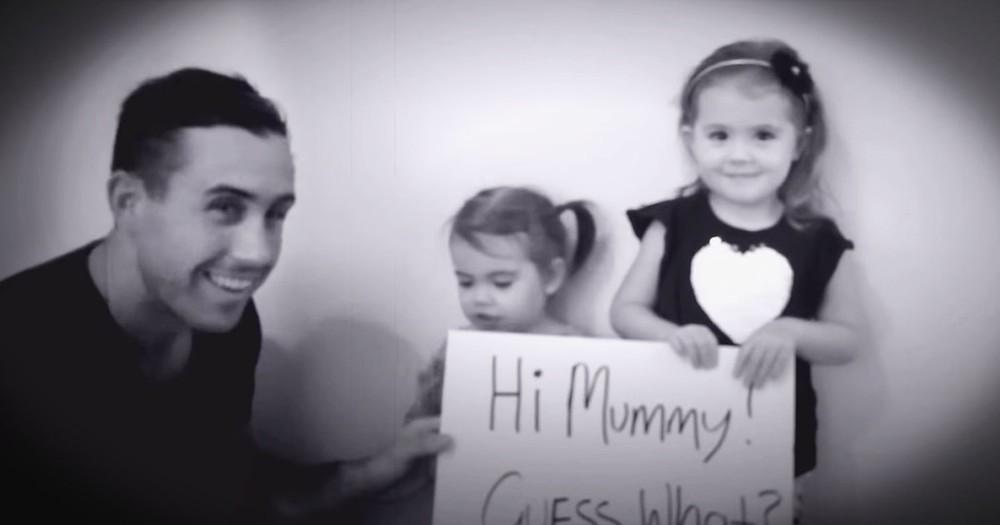 2 Sweet Girls Help Their Dad Propose--Aww!