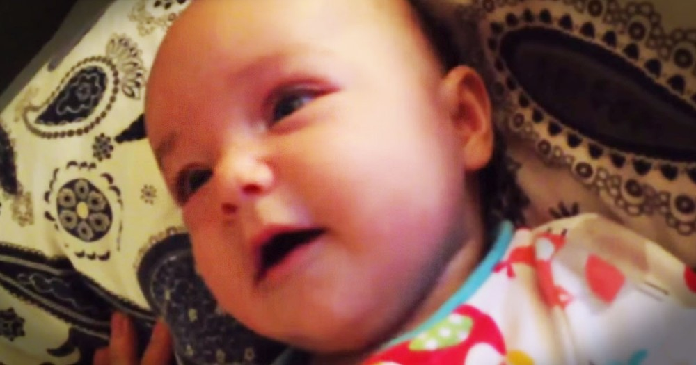 Baby Can't Help But Sing Along To 'Amazing Grace'--Aww!