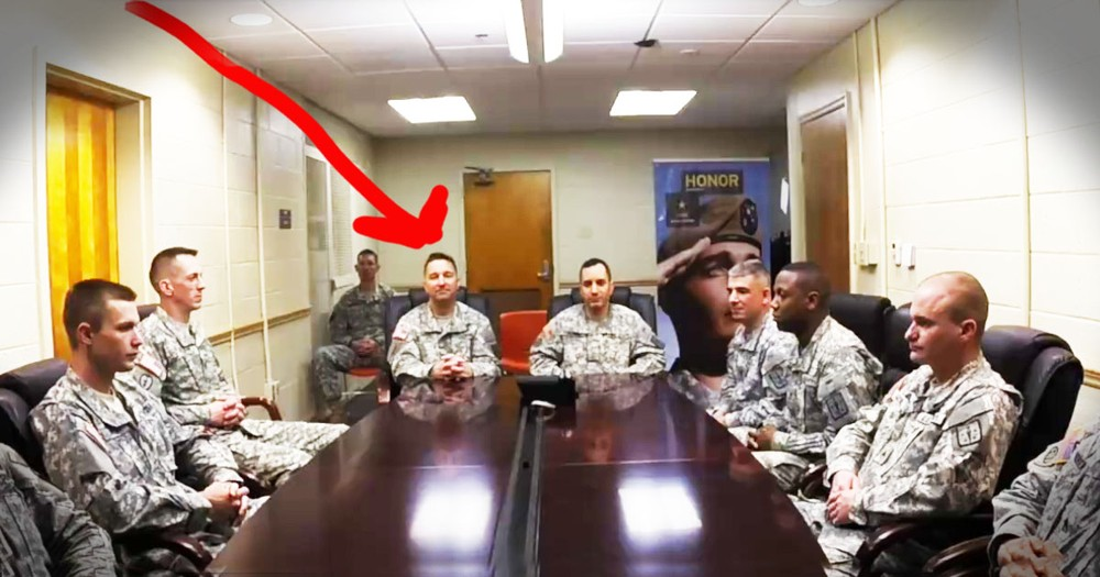 It Looked Like A Boring Meeting Until They Stood Up--AWESOME Surprise!