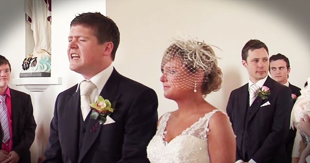 What This Groom Did When His Bride Walked Down The Aisle--WOW!
