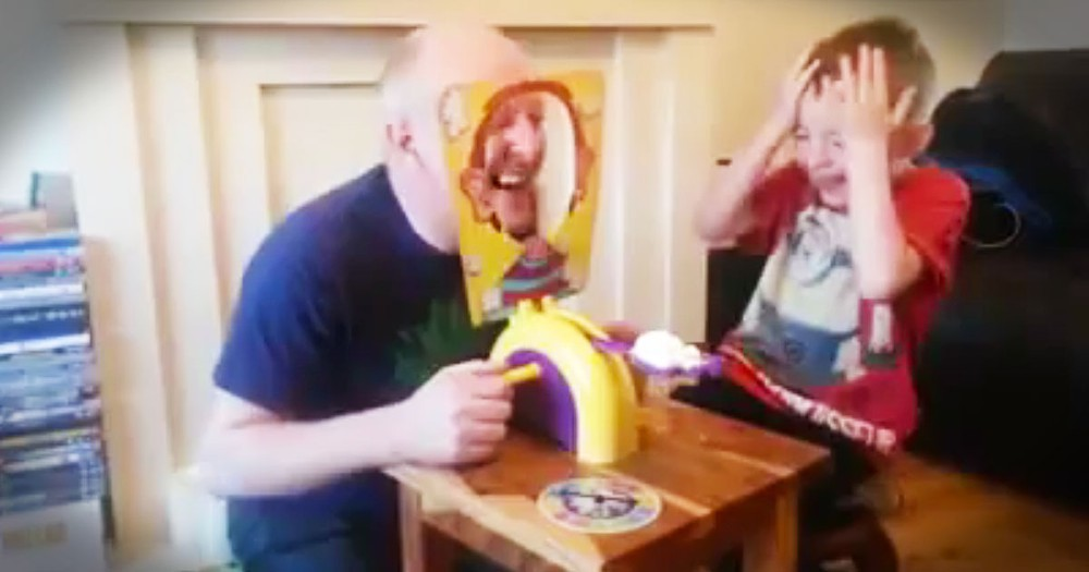 Adorable Boy Plays Hilarious Game With Grandpa
