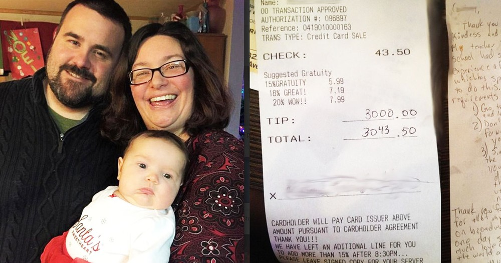 Waiter Gets A $3,000 Tip, And The Reason WHY Is Incredible!