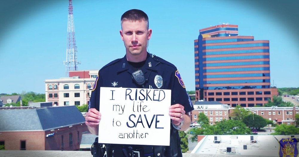 These Police Officers' Cardboard Testimonies Hit Me Hard--They're HEROES!
