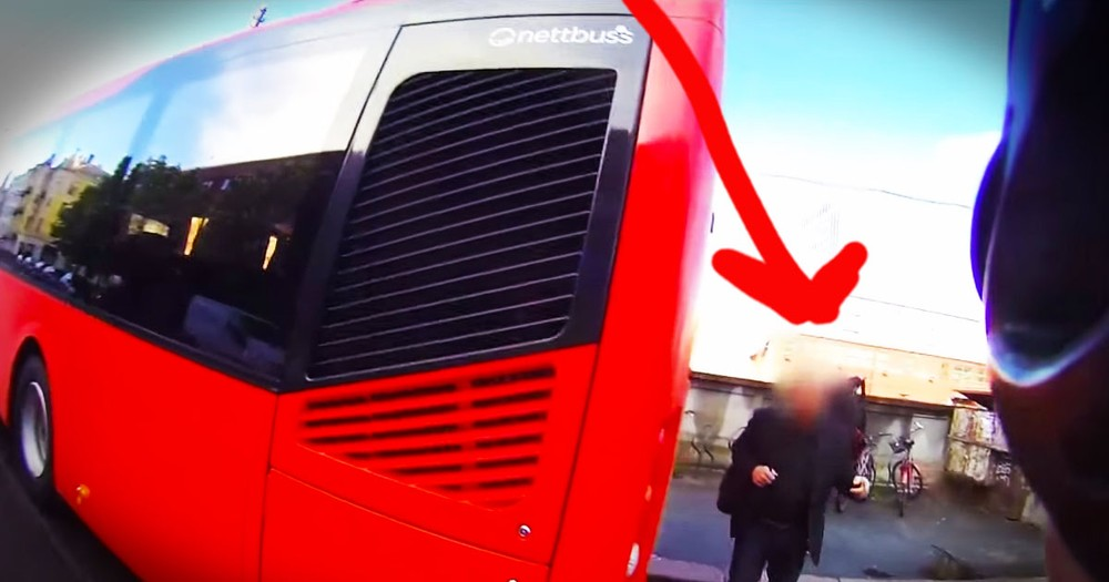 Passenger Hops Off Bus To Confront Biker. And You'll Love WHY!
