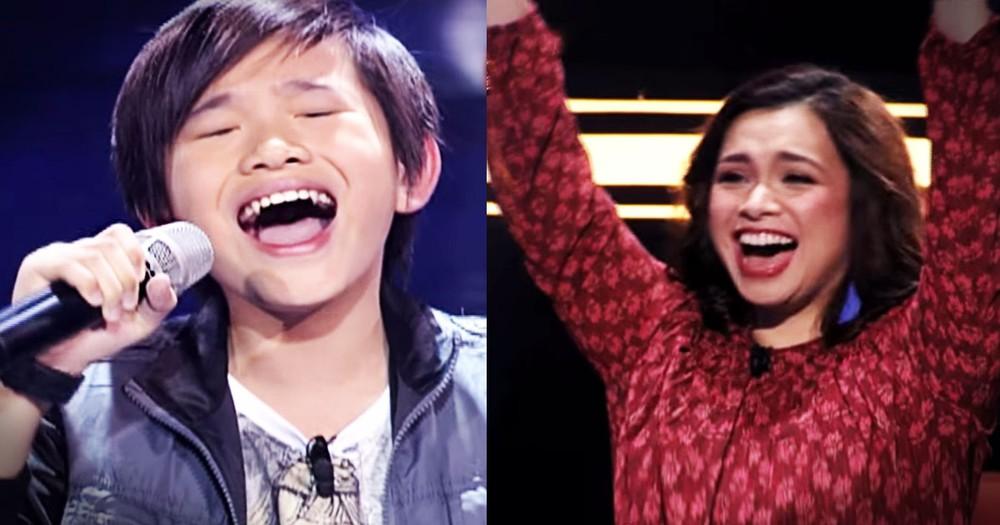 This Cute Little Kid Packs a BIG Voice--Whoa!