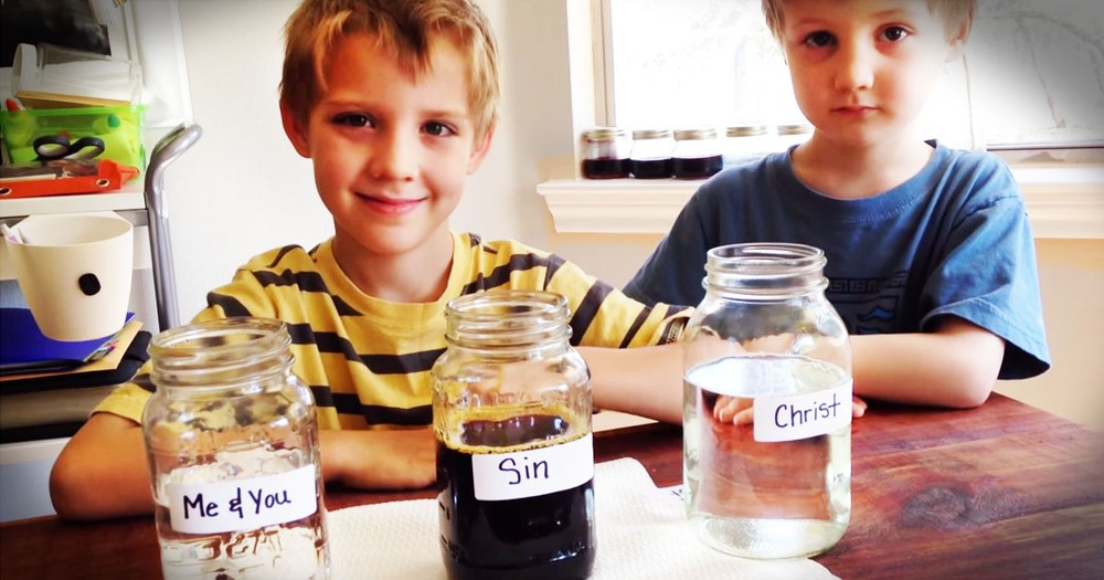 Mom Raises Her Boys Up Right With This Awesome 'Faith' Experiment!