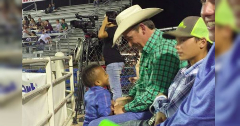 When This Little Boy Met This Stranger At A Rodeo, It Changed His Whole Life!