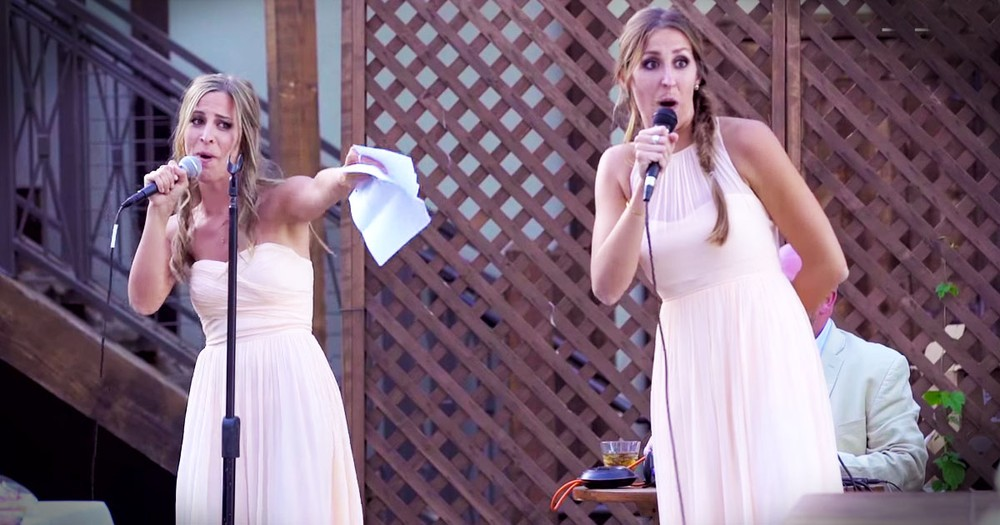 Sisters Of The Bride Give The Best Wedding Toast EVER!