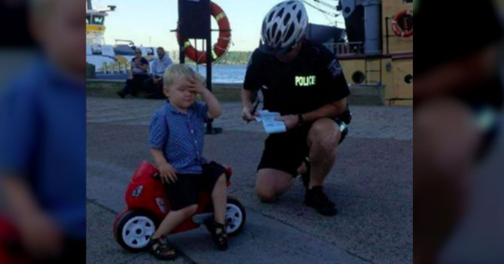 This Little Biker Learns That Crime Doesn't Pay. And It's ADORABLE!