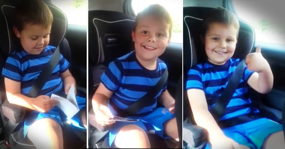 He Just Found Out He's Gonna Be A Big Brother And You NEED To See This!