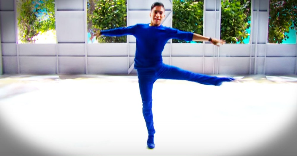 Dancer Won't Let Being Blind Stop Him From Inspiring