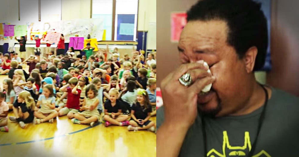Custodian Gets Surprise Of A Lifetime From Thankful Kids