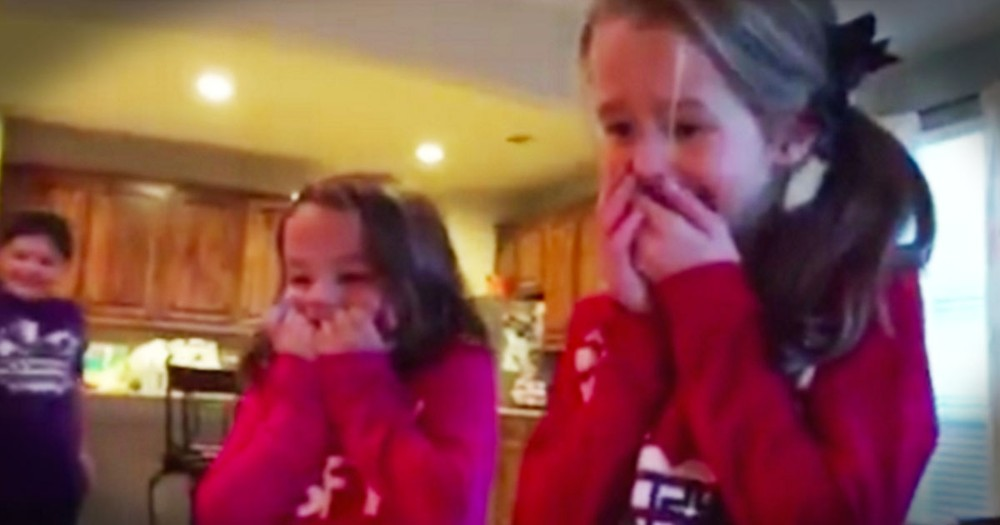 Sisters Surprised By Adopted Baby Brother Have Sweetest Reaction