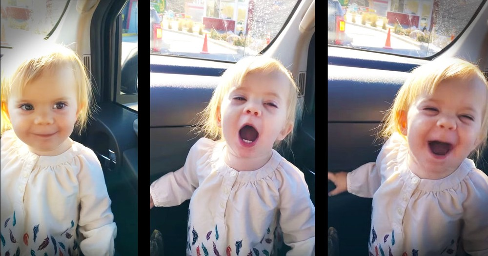 Baby's Car Lip-Sync Is Too Cute For Words