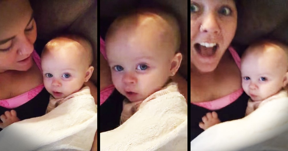 Baby Girl's Response to 'I love you' Is Too Cute To Miss