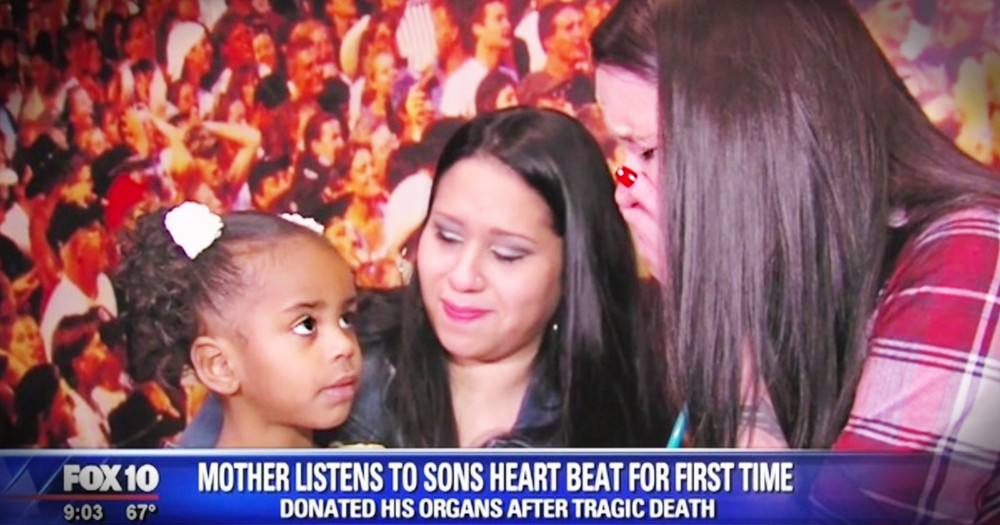 Woman Hears Son's Heartbeat In The Little Girl He Saved