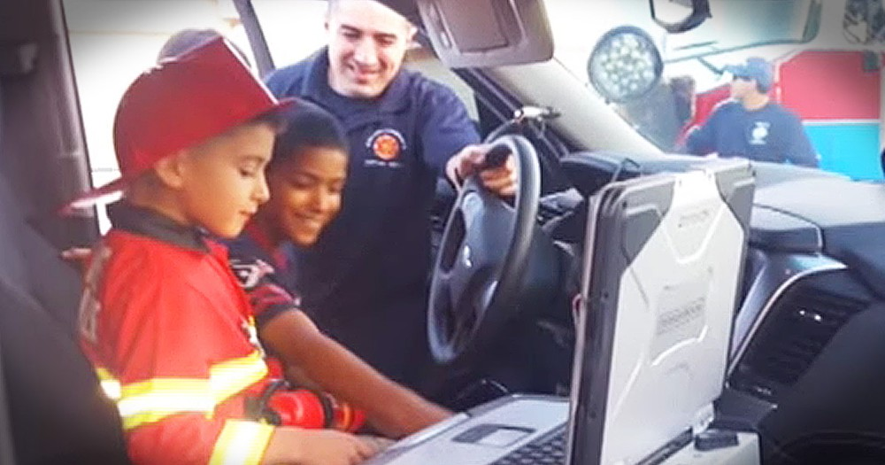 Firefighter's Surprise Visit Touches The Heart Of Lonely 6-Year-Old