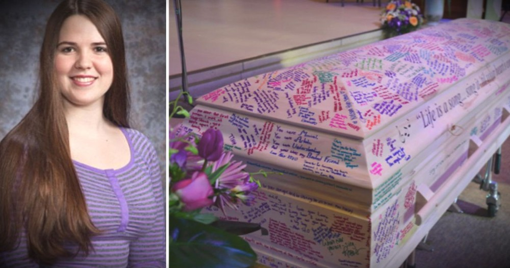 This Teen's Casket Is Covered In Writing For A Truly Touching Reason