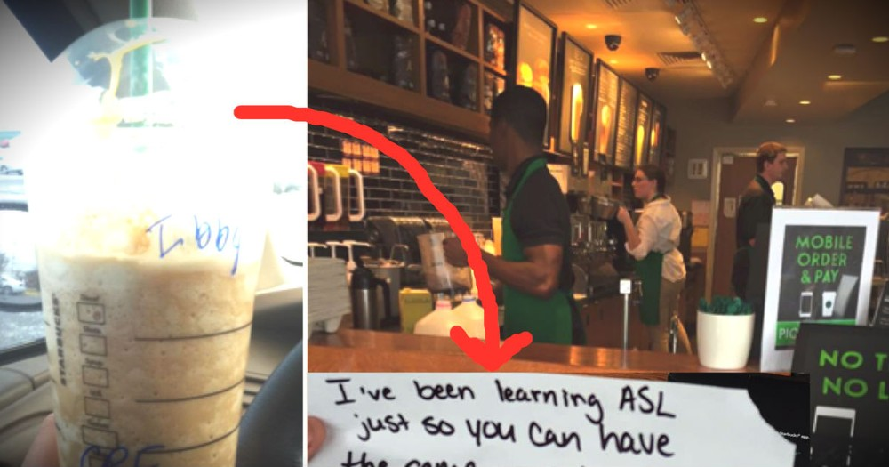 A Deaf Man Got A Special Note With His Starbucks Coffee