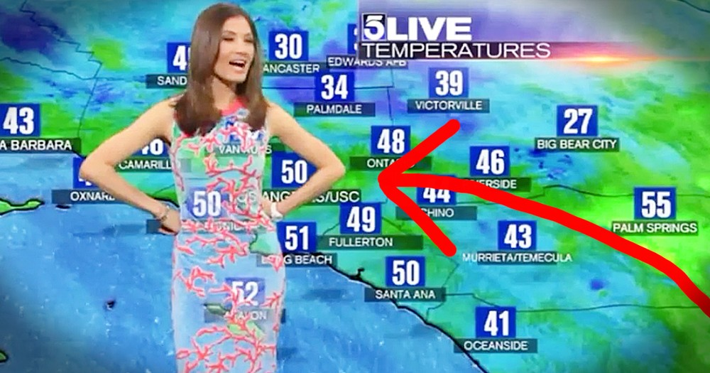 Meteorologist's Dress Leads To Funny Weather Mishap