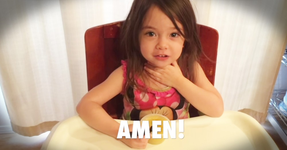 3-year-old Learning To Pray Is Too Cute