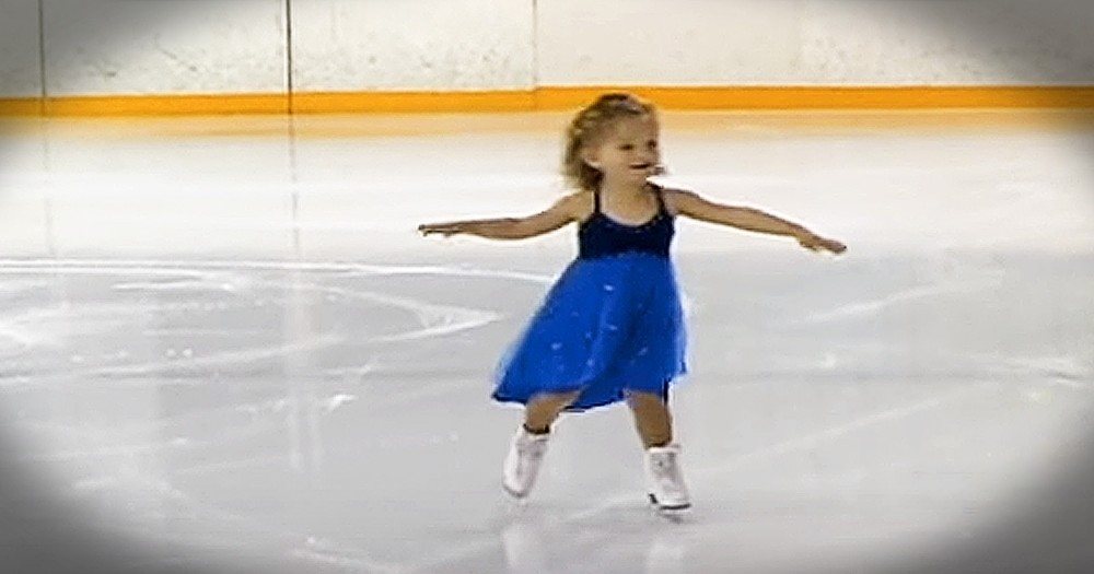 Tiny Ice Skater Will Make Your Day
