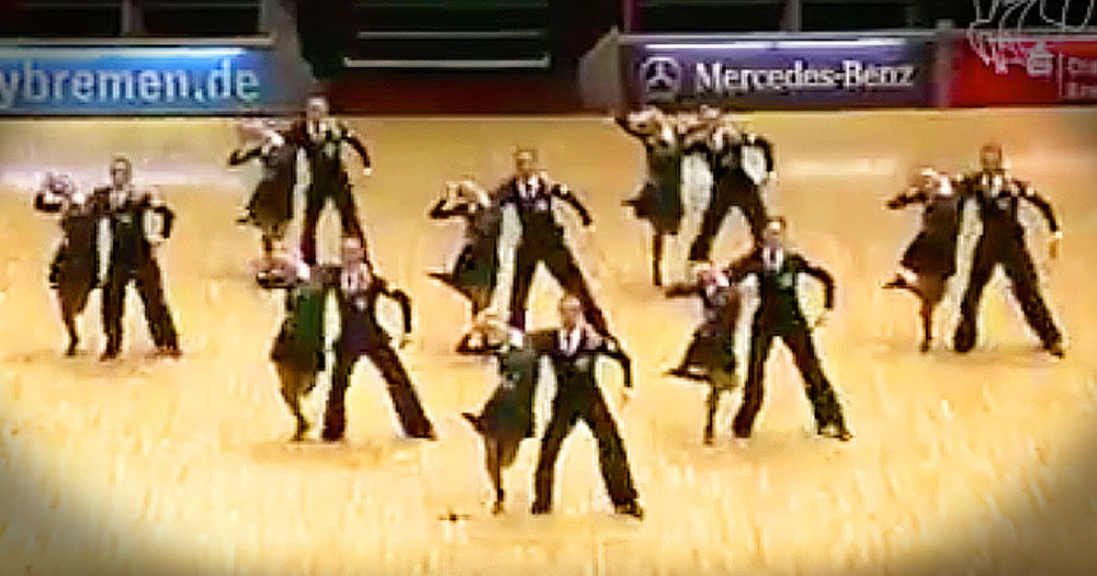 Ballroom Dancers Wow With Unexpected Song Mashup