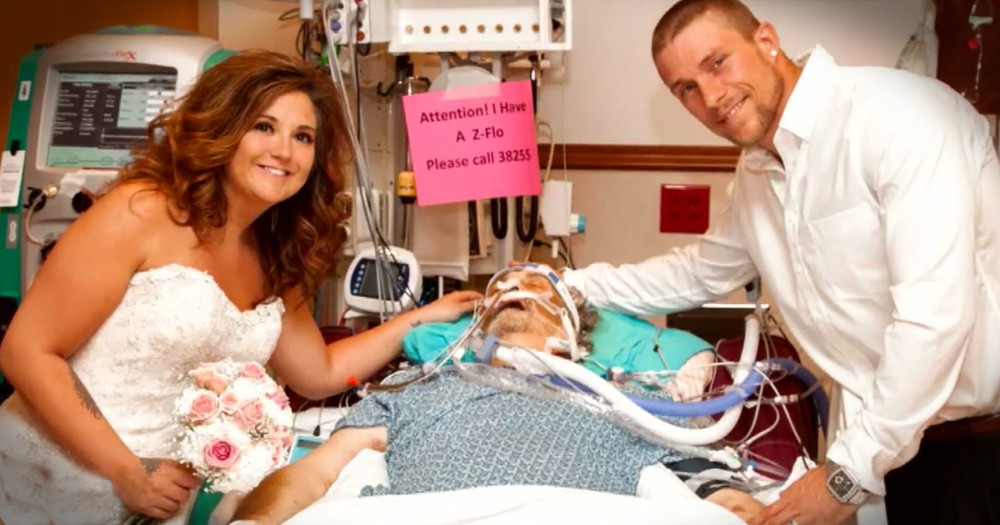 Bed-Side Hospital Wedding For The Bride's Father Will Leave You In Tears