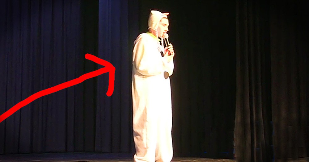 Young Man With Autism Gets Help From Audience During Talent Show
