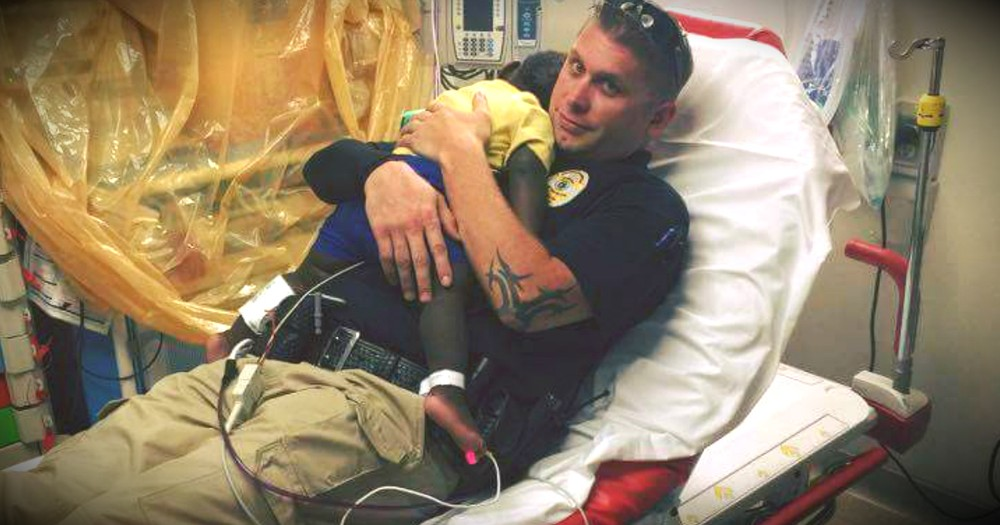 Photo Of A Police Officer Snuggling An Abandoned Toddler Hit Me Hard!