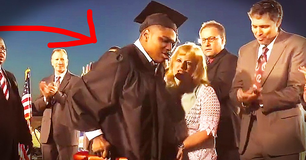 Boy Walks For The First Time At Graduation