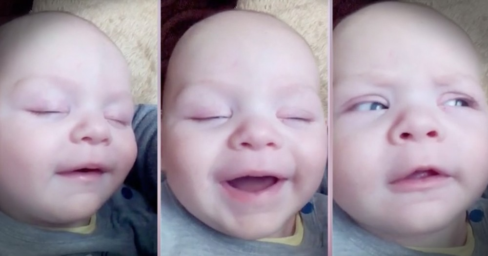 Baby Giggling Himself Awake Is TOO Cute