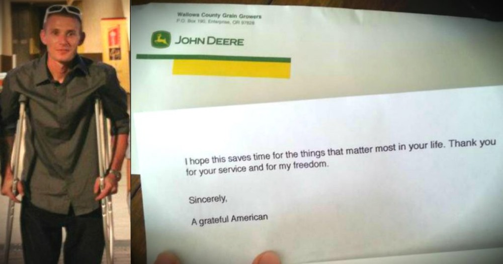 A Disabled Veteran Got THIS From An Anonymous Stranger -- TEARS!