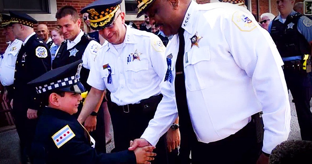 Officers' Support For A Little Boy Who Lost His Dad Is Amazing