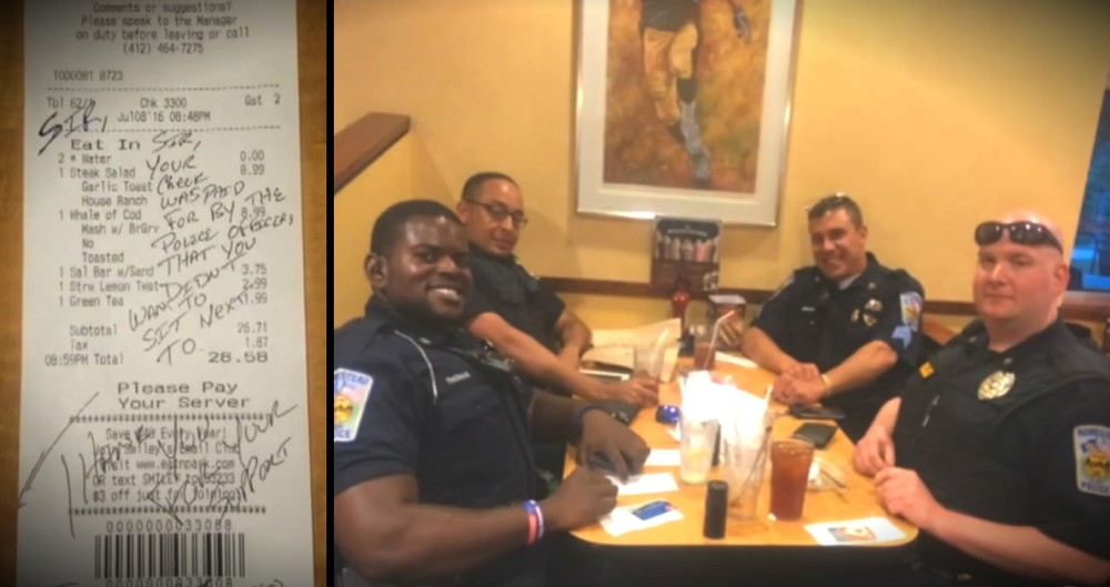 A Couple Didn't Want To Sit By Police Officers, So The Cops Did THIS!
