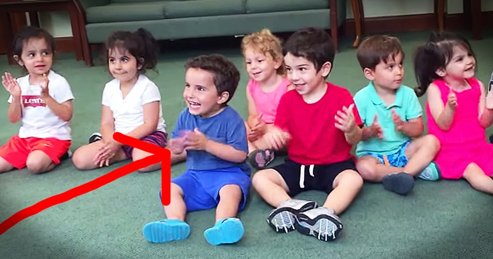 Little Boy Can't Stop Laughing At His Teacher's Silly Song