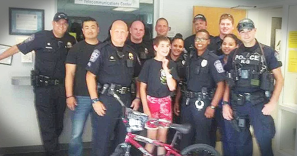 Police Department Surprises Boy With Autism With A New Bike After His Was Stolen