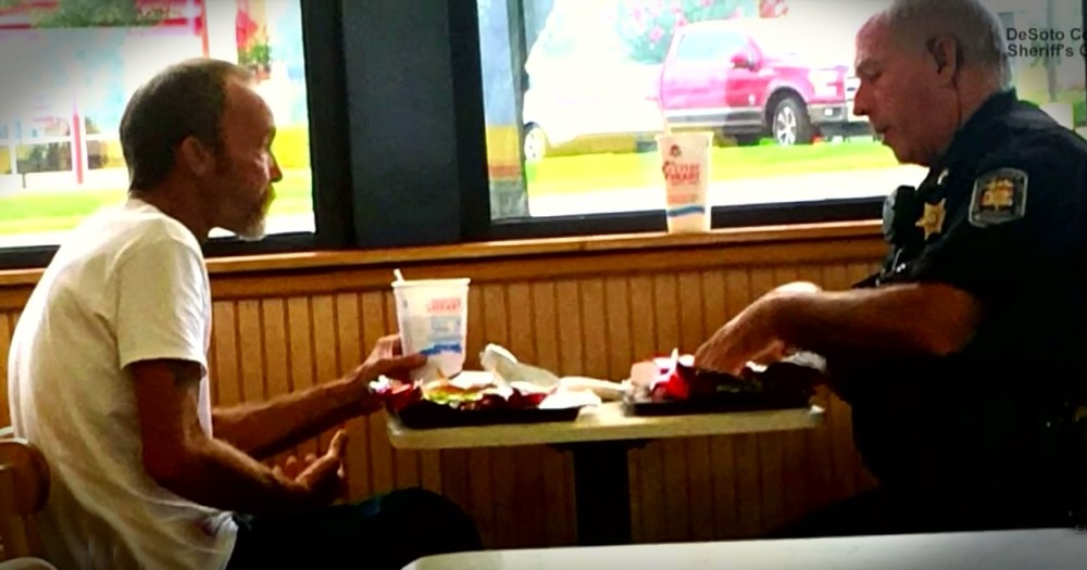 An Officer's Meal With A Homeless Stranger Turns Into Something Truly Beautiful