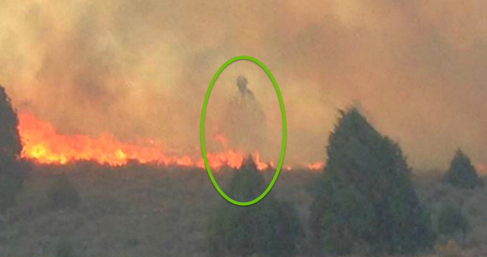 Mysterious Figure Appears Over A Cabin That Was Miraculously Spared From Raging Fire