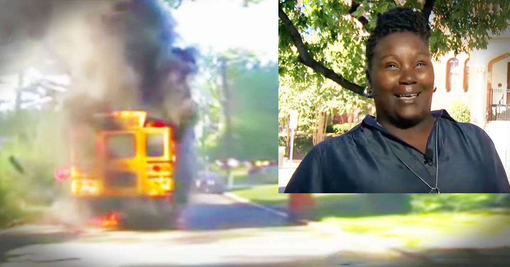 Brave School Bus Driver Battles Flames To Save 20 Kids