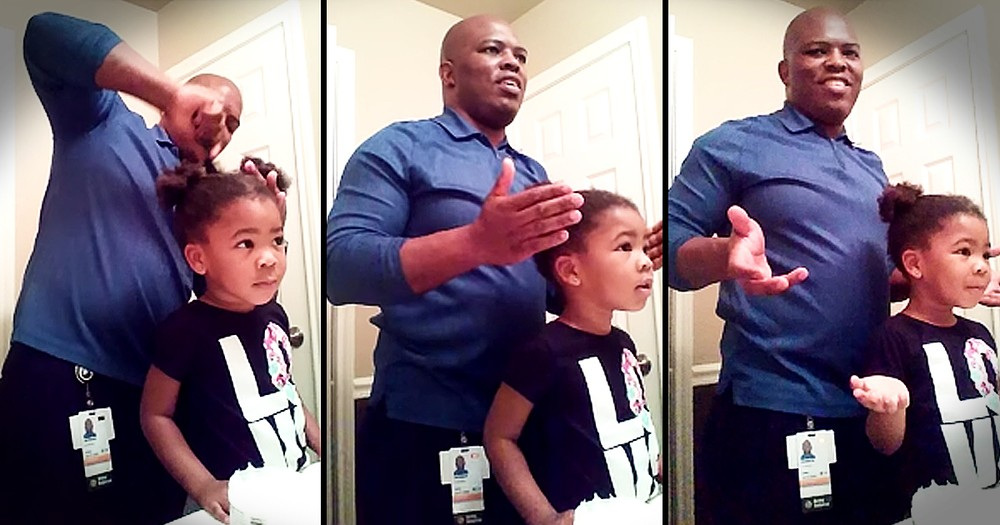3-Year-Old Has Sweet Response When Dad Tries To Do Her Hair