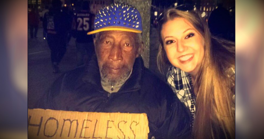 Woman Asks A Homeless Man To Watch Her Purse